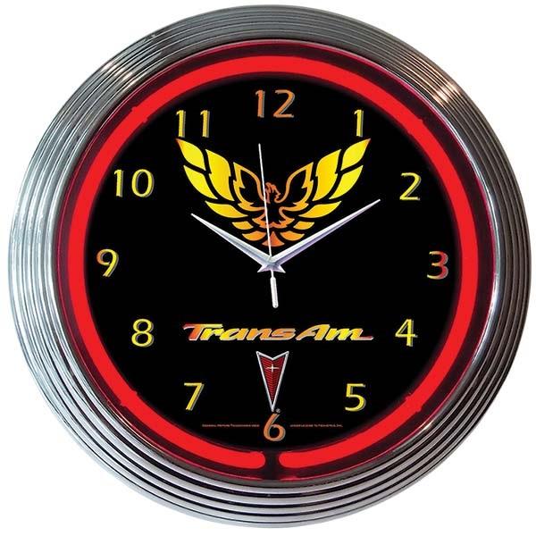Trans Am Neon Wall Clock