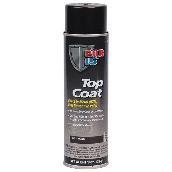 POR-15® Gloss Black Topcoat, 14 oz Spray