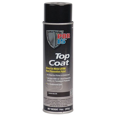 POR-15® Gloss Black Topcoat, 14 oz Spray