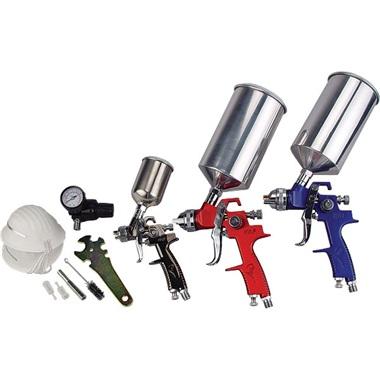 ATD 3-Gun HVLP Paint Spray Gun Set