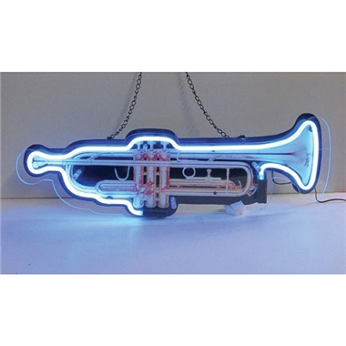 Trumpet Shaped Neon Sign