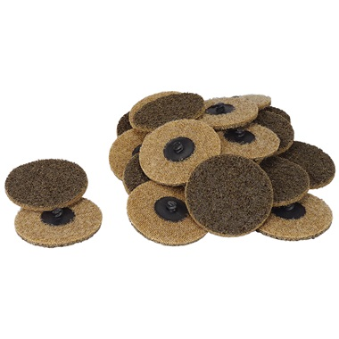"3"" Quick-Change Surface Conditioning Discs - Coarse, Gold -  25 Pk"