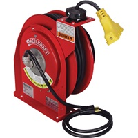 REELCRAFT Triple Receptacle Power Cord Reel with Cord