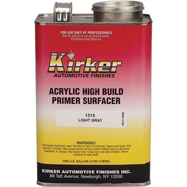 Kirker Acrylic Lacquer High-Build Primer (1K) - Gray, Gal