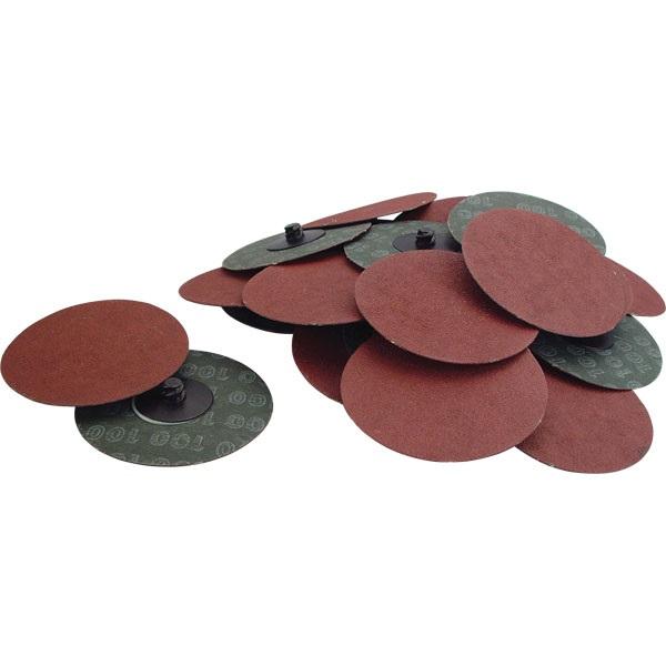 "3"" Quick-Change Sanding Discs - 100 Grit, 25 Pk"