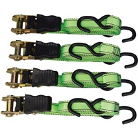 4-Pc Ratchet Tie-Down Set