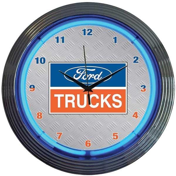 Ford Trucks Neon Wall Clock