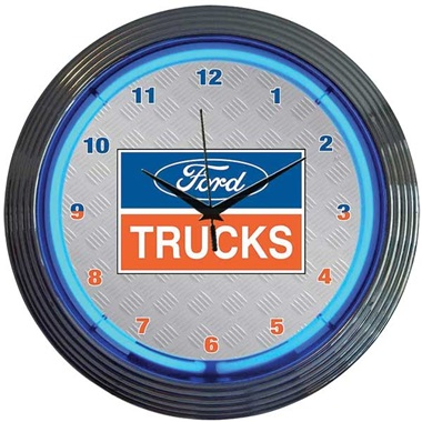 Ford Trucks Neon Wall Clock