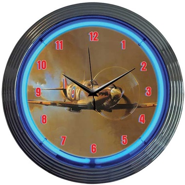 Spit Fire Neon Wall Clock