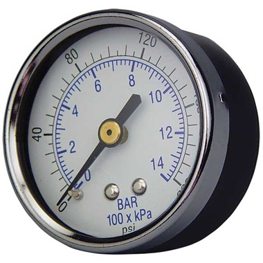 1/4'' Back Connection Gauge