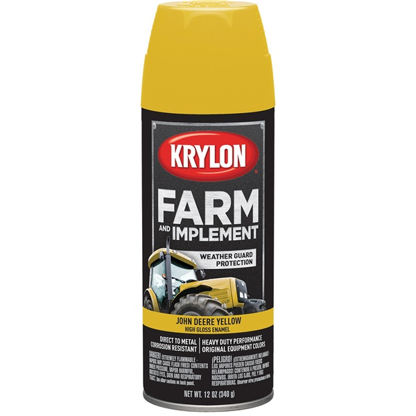 Krylon® Farm & Implement Paint - John Deere Yellow, 12 oz