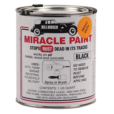 Bill Hirsch Miracle Paint - Extra-Thick Gloss Black, Qt