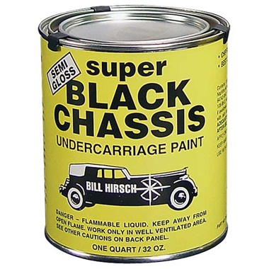 Bill Hirsch Semi-Gloss Super Black Chassis Undercarriage Paint, Qt