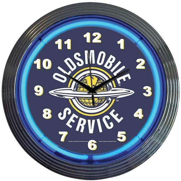 Oldsmobile Service Neon Wall Clock