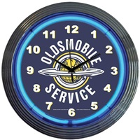 Oldsmobile Neon Wall Clock