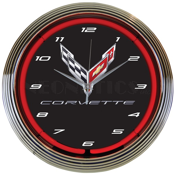 Corvette C8 Neon Wall Clock