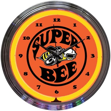 Dodge Super Bee Neon Wall Clock