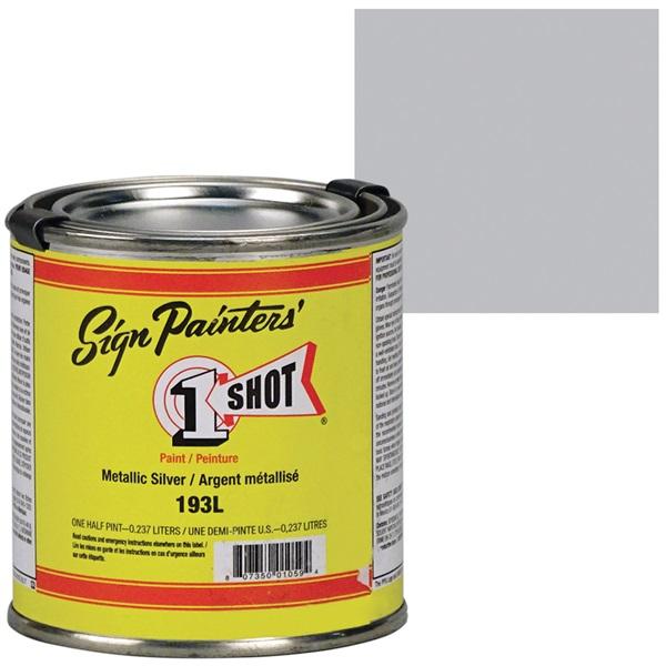 1 Shot® Lettering & Pinstripe Enamel Paint - Metallic Silver