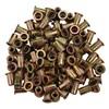 M6 x 1.0 Zinc-Plated Steel Rivet Nuts - 100Pk