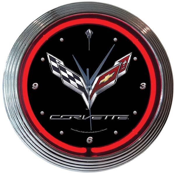 Corvette C7 Neon Wall Clock