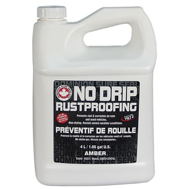 Dominion Sure Seal Spray-On NO DRIP Rustproofing - Amber, 1.06 Gal