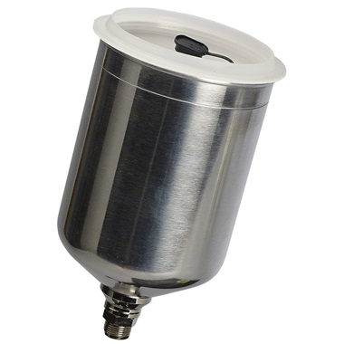 DeVILBISS® 900 cc Gravity-Fed Aluminum Cup Assembly with Lid