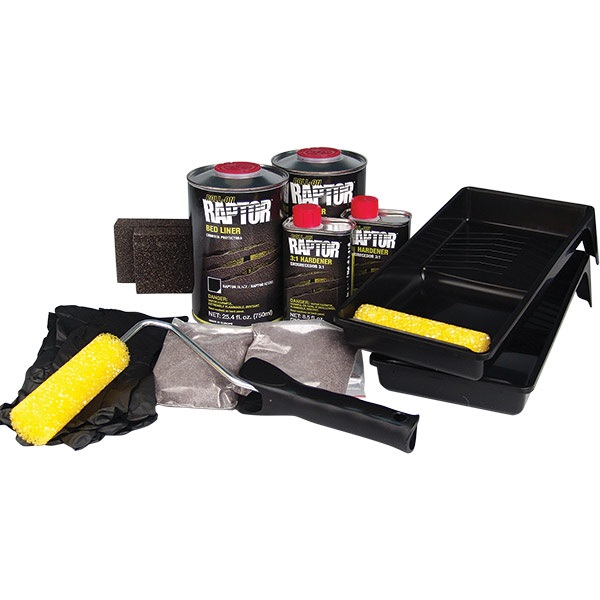 u pol 174 roll on raptor bed liner kit black tp tools
