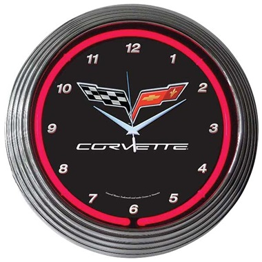 Corvette C6 Neon Wall Clock