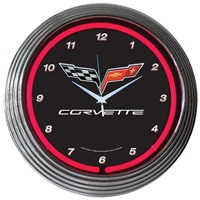 Corvette Neon Wall Clock