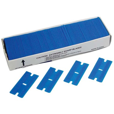 100-Pk Plastic Single-Edge Razor Blades