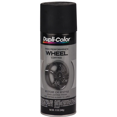 Dupli-Color® Wheel Paint - Satin Black, 12 oz