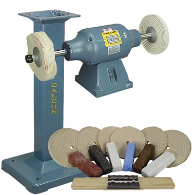 BALDOR® 3/4HP Buffer, BALDOR® Cast-Iron Stand & Buffing Kit