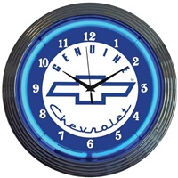 Chevrolet Neon Wall Clock
