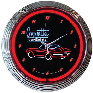 Corvette Stingray Neon Wall Clock