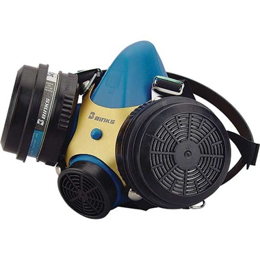 Binks Dual-Cartridge Paint Respirator, Large