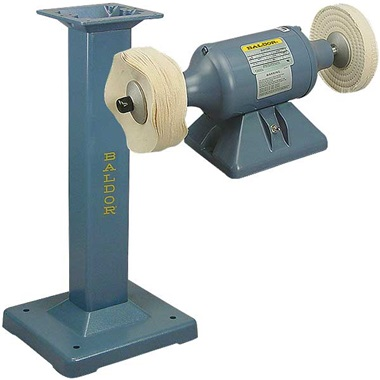 BALDOR® 1/3HP Buffer and BALDOR® Cast-Iron Stand