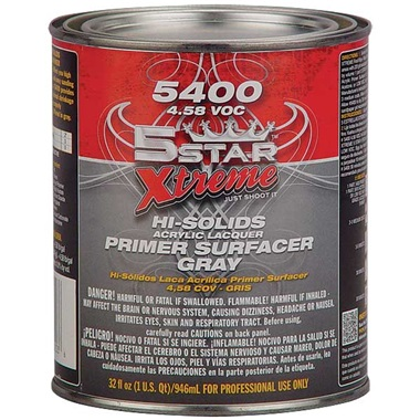 5STAR® Acrylic Lacquer Primer Surfacer (1K) - Gray, Qt