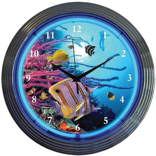Aquarium Neon Wall Clock