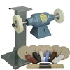 BALDOR® 3/4HP Buffer, 11 Ga Steel Stand & Buffing Kit