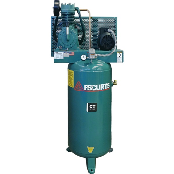 FS-Curtis 5HP, 2-Cyl, 2-Stage 60-Gal Air Compressor