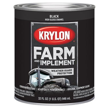 Krylon® Farm & Implement Paint - Gloss Black, Qt