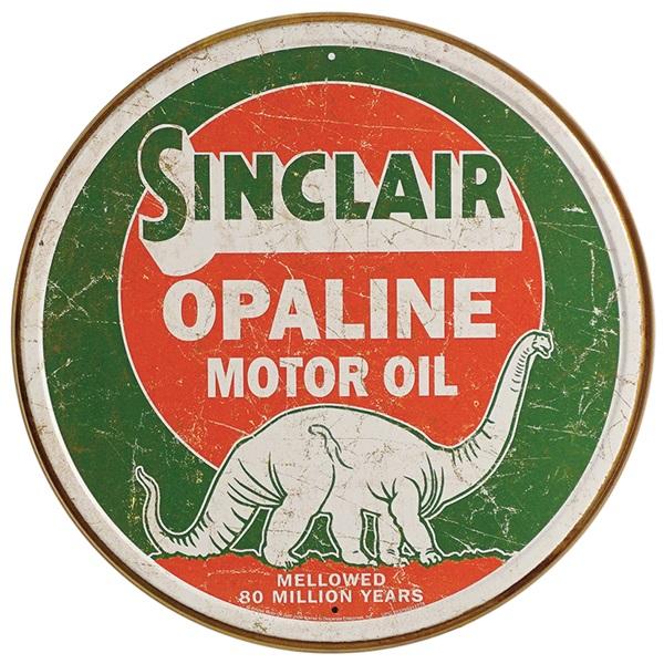 "Sinclair Oil Tin Sign - 11-3/4"" Dia"