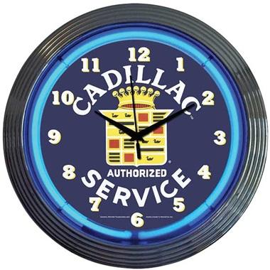 Cadillac Service Neon Wall Clock