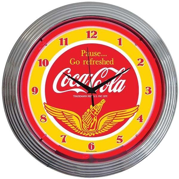 Coca-Cola Wings Neon Wall Clock