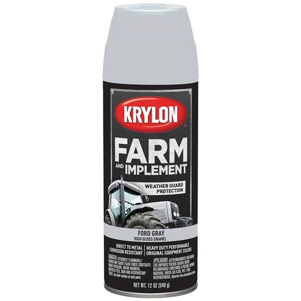 Krylon® Farm & Implement Paint - Ford Gray, 12 oz