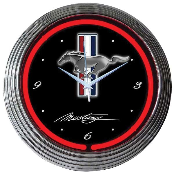 Ford Mustang Neon Wall Clock