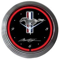 Mustang Neon Wall Clock