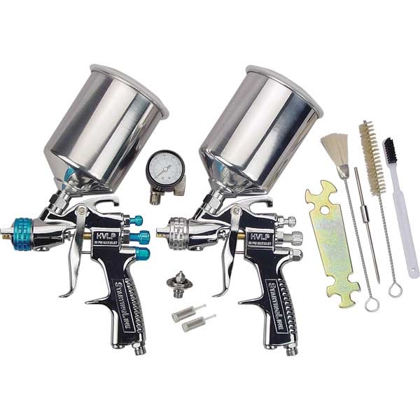 devilbiss startingline 2 gun hvlp spray gun set tp tools. Black Bedroom Furniture Sets. Home Design Ideas