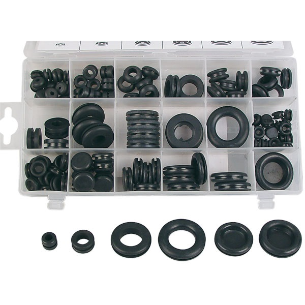 125-Pc Rubber Grommets