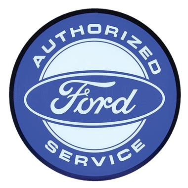 "Ford Authorized Service 15"" Dia Backlit LED Sign"